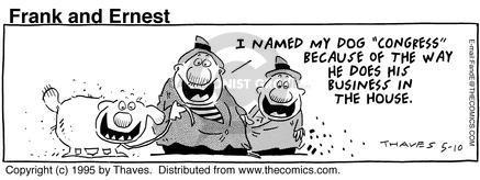 Comic Strip Bob Thaves Tom Thaves  Frank and Ernest 1995-05-10 government program