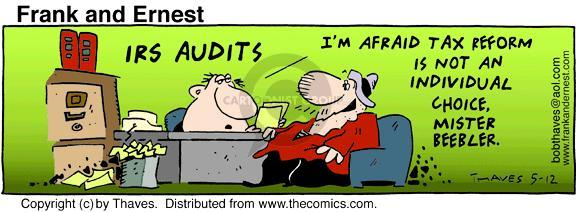 Comic Strip Bob Thaves Tom Thaves  Frank and Ernest 1995-05-12 tax reform