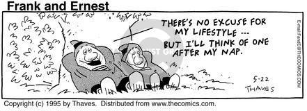 Comic Strip Bob Thaves Tom Thaves  Frank and Ernest 1995-05-22 procrastinate