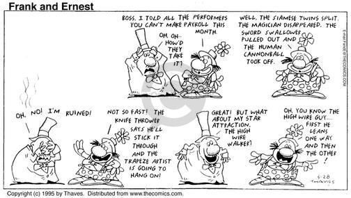 Comic Strip Bob Thaves Tom Thaves  Frank and Ernest 1995-05-28 management