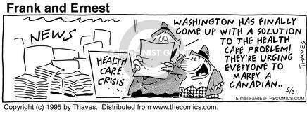 Comic Strip Bob Thaves Tom Thaves  Frank and Ernest 1995-05-31 government program