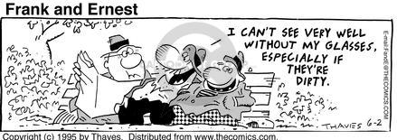 Comic Strip Bob Thaves Tom Thaves  Frank and Ernest 1995-06-02 aptitude