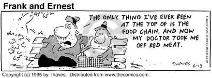 Cartoonist Bob Thaves Tom Thaves  Frank and Ernest 1995-06-19 fat