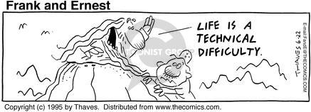 Comic Strip Bob Thaves Tom Thaves  Frank and Ernest 1995-06-22 lifestyle