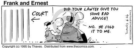 Cartoonist Bob Thaves Tom Thaves  Frank and Ernest 1995-06-26 inferior