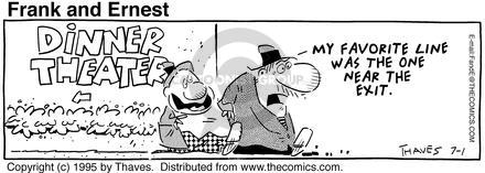 Comic Strip Bob Thaves Tom Thaves  Frank and Ernest 1995-07-01 reviewer