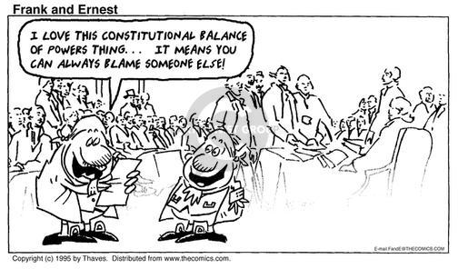 Comic Strip Bob Thaves Tom Thaves  Frank and Ernest 1995-07-02 constitutional