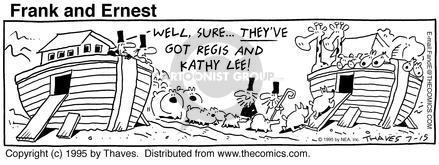 Comic Strip Bob Thaves Tom Thaves  Frank and Ernest 1995-07-15 traveler