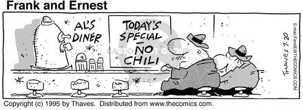Comic Strip Bob Thaves Tom Thaves  Frank and Ernest 1995-07-20 lunch