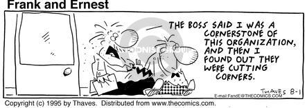 Comic Strip Bob Thaves Tom Thaves  Frank and Ernest 1995-08-01 management