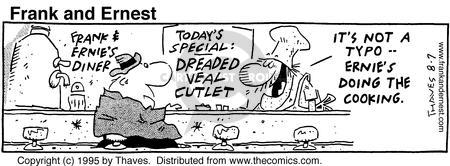 Comic Strip Bob Thaves Tom Thaves  Frank and Ernest 1995-08-07 food quality