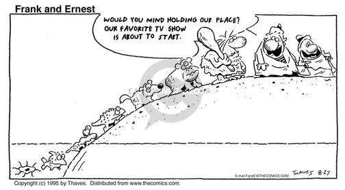Comic Strip Bob Thaves Tom Thaves  Frank and Ernest 1995-08-27 development