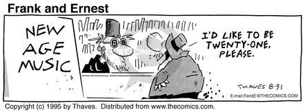 Comic Strip Bob Thaves Tom Thaves  Frank and Ernest 1995-08-31 change