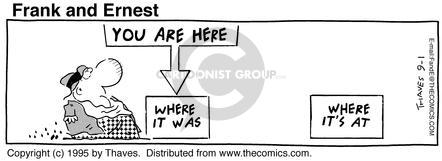 Comic Strip Bob Thaves Tom Thaves  Frank and Ernest 1995-09-01 sign
