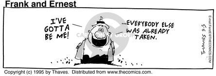 Comic Strip Bob Thaves Tom Thaves  Frank and Ernest 1995-09-05 decision making