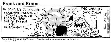 Comic Strip Bob Thaves Tom Thaves  Frank and Ernest 1995-09-06 political action committee