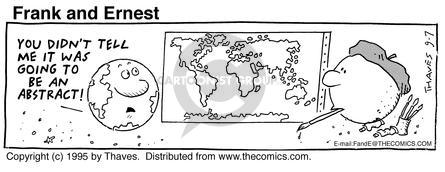 Cartoonist Bob Thaves Tom Thaves  Frank and Ernest 1995-09-07 star