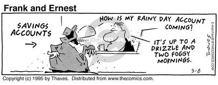 Comic Strip Bob Thaves Tom Thaves  Frank and Ernest 1995-09-08 weatherman