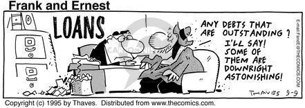 Cartoonist Bob Thaves Tom Thaves  Frank and Ernest 1995-09-09 factor