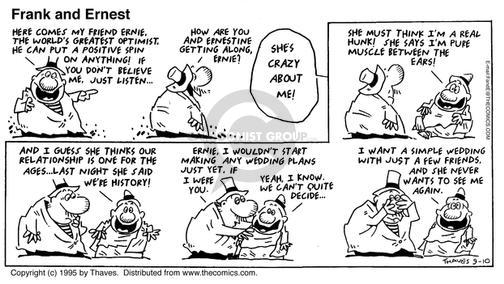Comic Strip Bob Thaves Tom Thaves  Frank and Ernest 1995-09-10 relationship