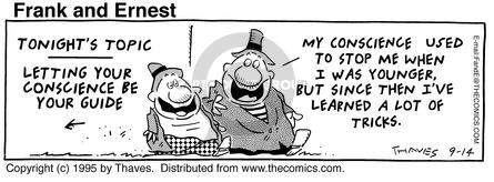 Comic Strip Bob Thaves Tom Thaves  Frank and Ernest 1995-09-14 education