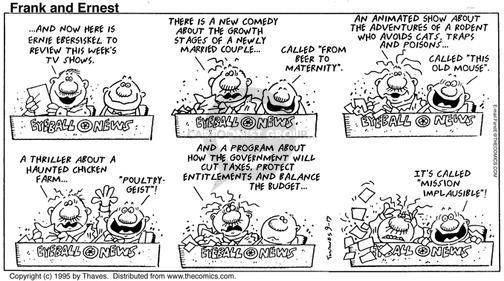 Cartoonist Bob Thaves Tom Thaves  Frank and Ernest 1995-09-17 newly