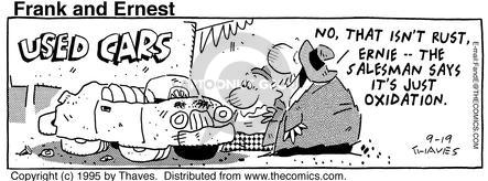 Comic Strip Bob Thaves Tom Thaves  Frank and Ernest 1995-09-19 buying car