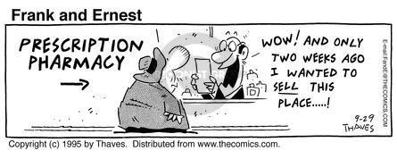 Cartoonist Bob Thaves Tom Thaves  Frank and Ernest 1995-09-29 medical