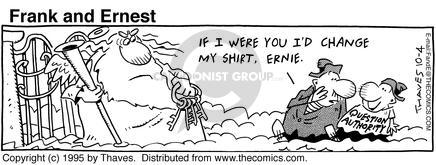 Comic Strip Bob Thaves Tom Thaves  Frank and Ernest 1995-10-04 divine