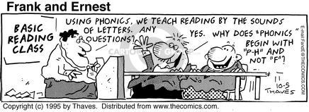 Comic Strip Bob Thaves Tom Thaves  Frank and Ernest 1995-10-05 class