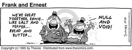 Comic Strip Bob Thaves Tom Thaves  Frank and Ernest 1995-10-10 null