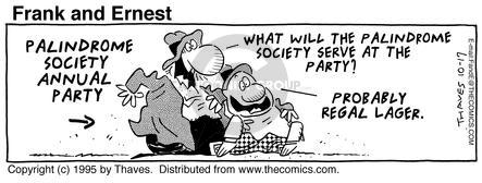 Comic Strip Bob Thaves Tom Thaves  Frank and Ernest 1995-10-17 annual meeting