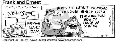 Comic Strip Bob Thaves Tom Thaves  Frank and Ernest 1995-10-19 x-ray