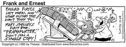 Comic Strip Bob Thaves Tom Thaves  Frank and Ernest 1995-10-28 fail