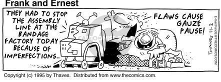 Comic Strip Bob Thaves Tom Thaves  Frank and Ernest 1995-11-02 equipment