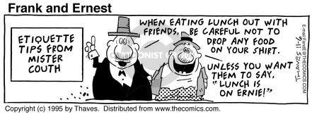 Comic Strip Bob Thaves Tom Thaves  Frank and Ernest 1995-11-06 counselor