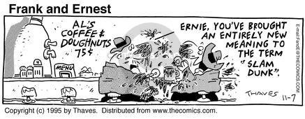 Comic Strip Bob Thaves Tom Thaves  Frank and Ernest 1995-11-07 lunch