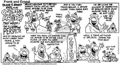 Cartoonist Bob Thaves Tom Thaves  Frank and Ernest 1995-11-26 partner