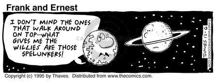 Cartoonist Bob Thaves Tom Thaves  Frank and Ernest 1995-12-06 star