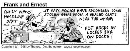 Comic Strip Bob Thaves Tom Thaves  Frank and Ernest 1995-12-07 law