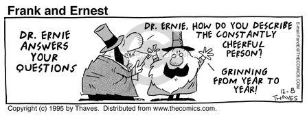 Comic Strip Bob Thaves Tom Thaves  Frank and Ernest 1995-12-08 inquiry