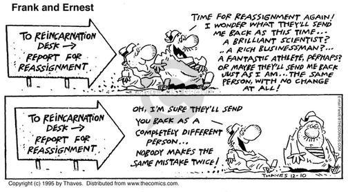 Comic Strip Bob Thaves Tom Thaves  Frank and Ernest 1995-12-10 doctrine