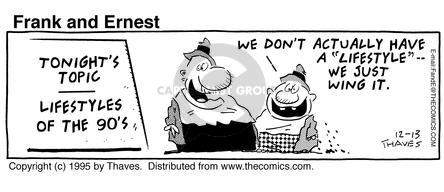Comic Strip Bob Thaves Tom Thaves  Frank and Ernest 1995-12-13 education