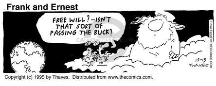 Comic Strip Bob Thaves Tom Thaves  Frank and Ernest 1995-12-15 management