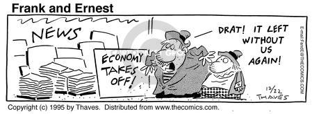 Comic Strip Bob Thaves Tom Thaves  Frank and Ernest 1995-12-22 financial resources