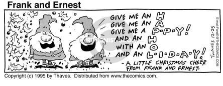 Comic Strip Bob Thaves Tom Thaves  Frank and Ernest 1995-12-25 north pole
