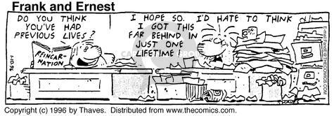 Comic Strip Bob Thaves Tom Thaves  Frank and Ernest 1996-01-10 employee