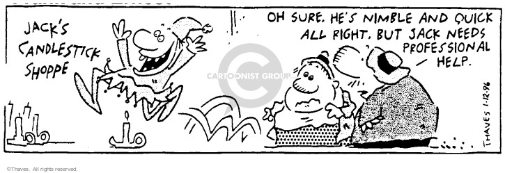 Comic Strip Bob Thaves Tom Thaves  Frank and Ernest 1996-01-12 Jack