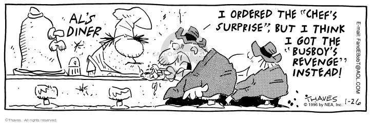 Comic Strip Bob Thaves Tom Thaves  Frank and Ernest 1996-01-26 change