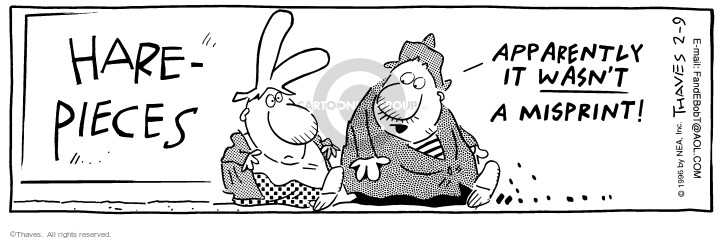 Comic Strip Bob Thaves Tom Thaves  Frank and Ernest 1996-02-09 play